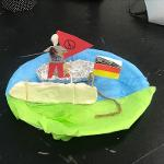 a student's art project made from clay